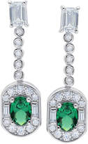 Crislu Romantic Prong & Bezel Set CZ Drop Earrings