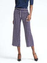 Banana Republic Blake-Fit Wide-Leg Gingham Crop Pant