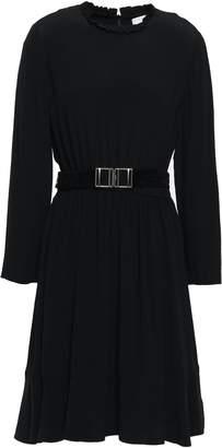 Sandro Wrap-effect Embellished Woven Mini Dress