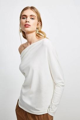Karen Millen Drape Shoulder Knitted Top