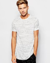 Asos Loungewear Oversized T-shirt In Slub Fabric - White