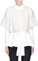Co Faux pearl cropped wool-cashmere sweater