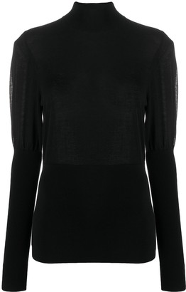 Burberry Puff-Sleeve Turtleneck Jumper