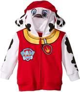 Nickelodeon Little Boys' Paw Patrol Marshall Toddler Costume Hoodie, Red