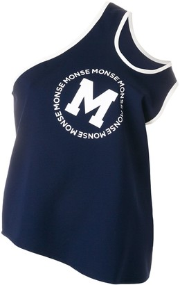 Monse Logo-Print Shifted Tank Top