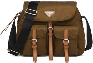 Prada Flap Pockets Shoulder Bag