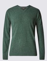 Marks and Spencer Extra Fine Pure Lambswool V-Neck Jumper