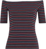 Whistles Multi Stripe Bardot Top