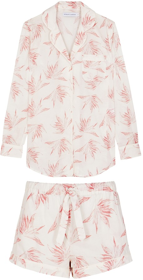 Desmond & Dempsey Deia Printed Cotton Pyjama Set
