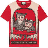 Gucci Washed t-shirt with monkeys print