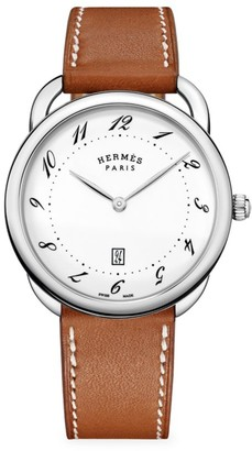 Hermes Arceau 40MM Stainless Steel & Leather Strap Watch