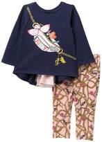 Juicy Couture Mesh Back Top & Print Legging Set (Baby Girls)