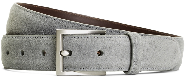 Brooks Brothers Skinny Chino Suede Belt
