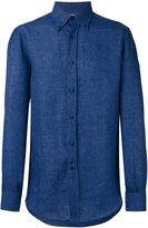 Brunello Cucinelli buttoned down collar shirt - men - Cotton/Linen/Flax - M