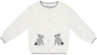 Rachel Riley Baby bunny intarsia cotton cardigan