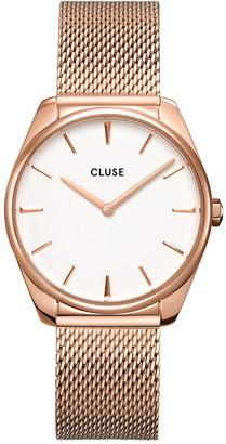 Cluse Feroce CW0101212002 Rose Gold Mesh/White