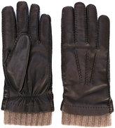 Loro Piana rib cuff gloves - men - Cashmere/Lamb Skin - M