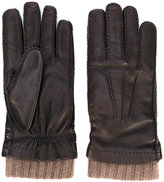 Loro Piana rib cuff gloves - men - Lamb Skin/Cashmere - M