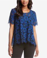 Karen Kane Lace Short-Sleeve Blouse