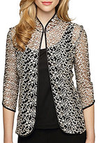 Alex Evenings 3/4 Sleeve Lace Twinset