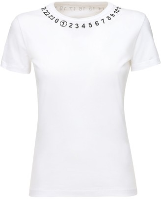 Maison Margiela Number Print Fitted Jersey T-Shirt