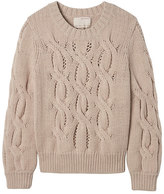 Banana Republic Heritage Chunky Cable-Knit Crop Crew