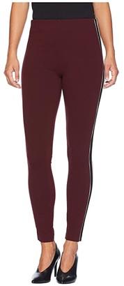 Liverpool Drew Ankle Leggings Stripe in Super Stretch Ponte Knit (Rosette Black Egret) Women's Casual Pants