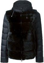 P.A.R.O.S.H. 'Quarter' fur panel padded jacket
