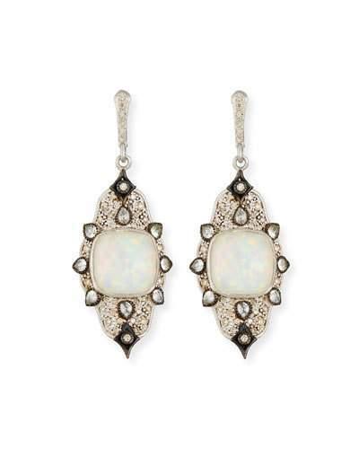 Armenta New World Midnight Triplet Drop Earrings with Diamonds