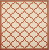 Safavieh Courtyard Collection CY6903-231 Beige and Terracotta Indoor/Outdoor Square Area Rug, 7-Feet 10-Inch Square