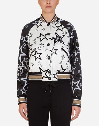 Dolce & Gabbana Millennials Star Print Nylon Coat