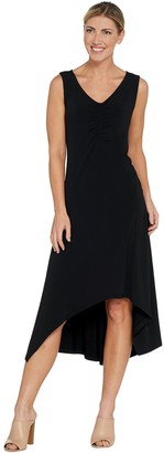 Halston H By H by Petite Jet Set Jersey V-Neck Hi-Low Dress