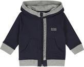 BOSS Logo trim cotton hoody 6-36 months