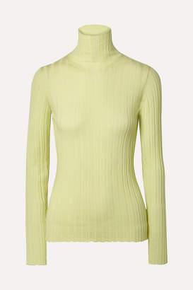 Petar Petrov Karen Ribbed Merino Wool Turtleneck Sweater - Pastel yellow