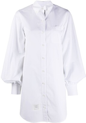 Thom Browne Puff-Sleeve Mini Shirt Dress