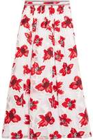 Tory Burch Barrington Embellished Fil Coupé Chiffon Maxi Skirt