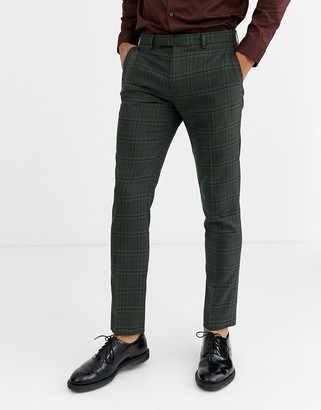 Rudie heritage check skinny fit suit pants