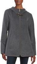 Ellen Tracy Hooded Wool-Blend Coat