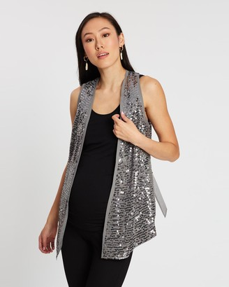 Isabella Oliver The Sequin Collar Waistcoat
