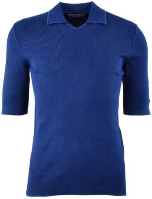 Dolce & Gabbana Blue Cotton Polo shirts