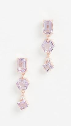 Suzanne Kalan Kalan By 14k Rose Gold Triple Drop Earrings with Post Back