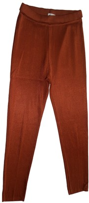 Alaia Orange Trousers for Women Vintage