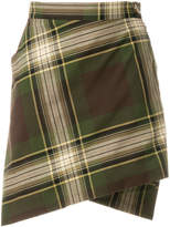 Vivienne Westwood checked wrap skirt
