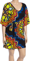 Aryeh Black & Red Bloom Tie-Waist Tunic Sweater - Plus
