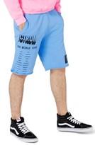 Topman Men's Print Jersey Cutoff Shorts