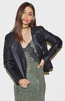 KENDALL + KYLIE Kendall & Kylie Quilted Faux Leather Biker Jacket