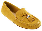 Isaac Mizrahi Live! Suede Moccasins with Tassel Detail
