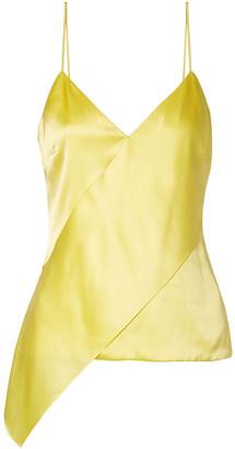 Cushnie Paulina Asymmetric Silk-charmeuse Camisole