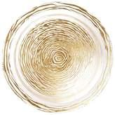 Vietri Rufolo Glass Gold Stripe Serving Bowl