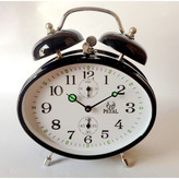 Mechanical Oval Bell Clock Colour: Black